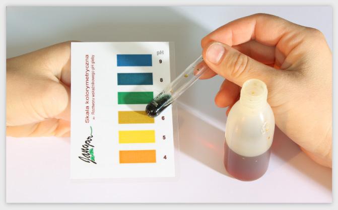 Skala kolorymetryczna do badania pH gleby